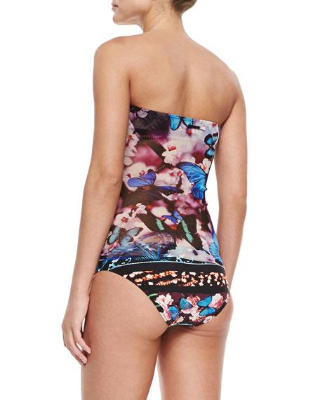 Butterfly-Print Bandeau Bikini