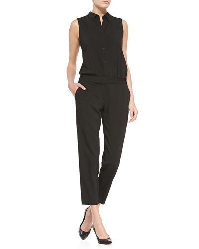 Yariby Sleeveless Shirtwaist Jumpsuit