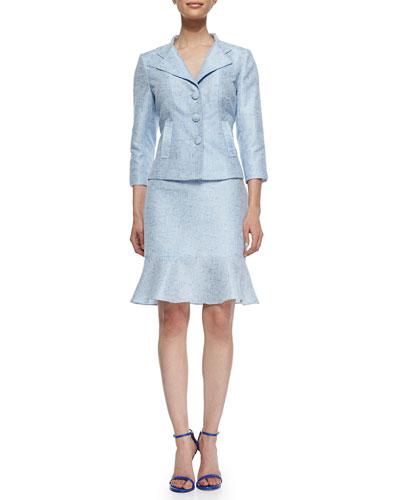 Tweed Jacket W/ Matching Skirt