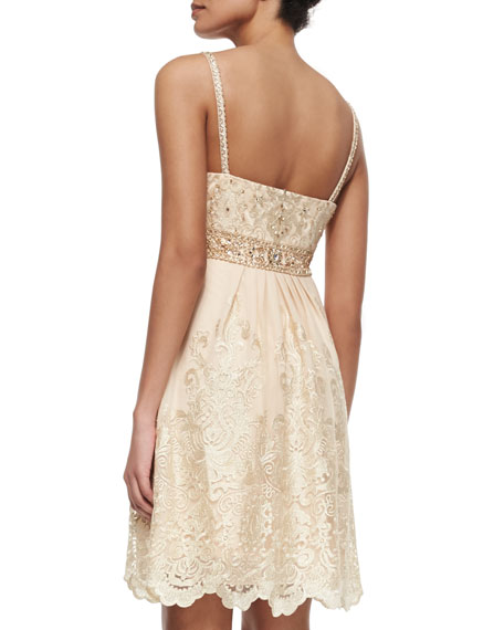 Beaded Bodice Embroidered Dress