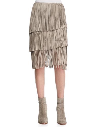 Layered Fringe Skirt