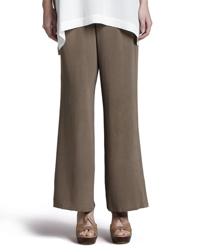 Silk Full-Leg Pants, Women's