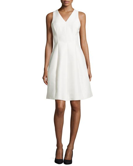 Halston Heritage Sleeveless Fit-and-Flare Cocktail Dress