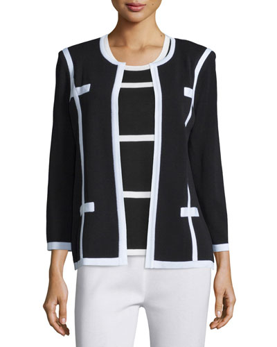 Milano Jacket with Piping, Petite