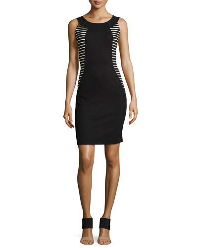 Alora Punto Milano Striped Dress