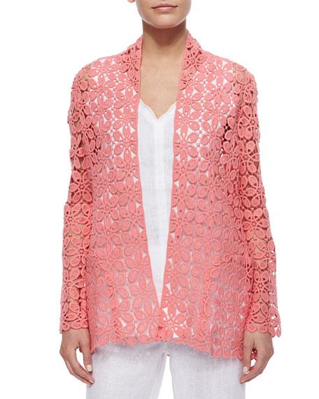 Neiman Marcus Crochet Topper Jacket