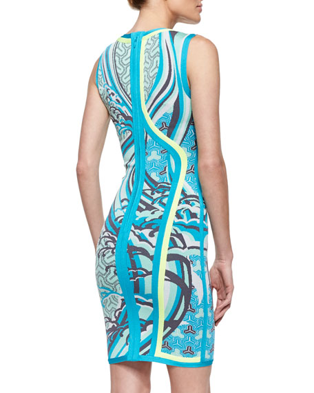 Akio Tidal Wave Jacquard Dress