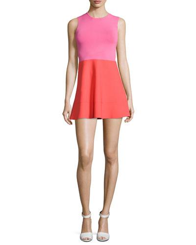 Cini Two-Tone Flared Dress