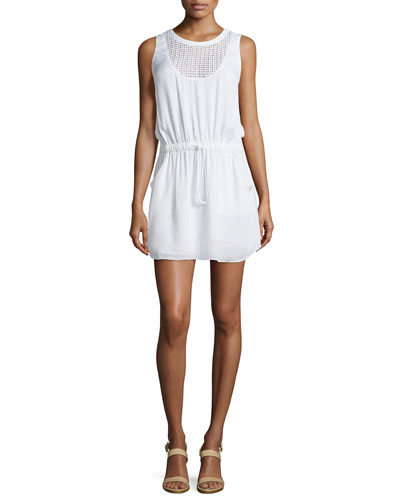 Howard Gauze/Mesh Drawstring Dress