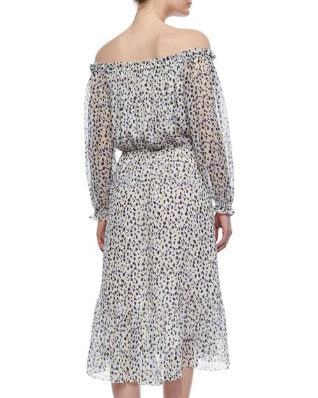Camila Animal-Print Silk Dress