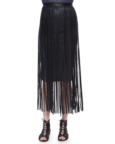 Jules Leather Fringe Belt