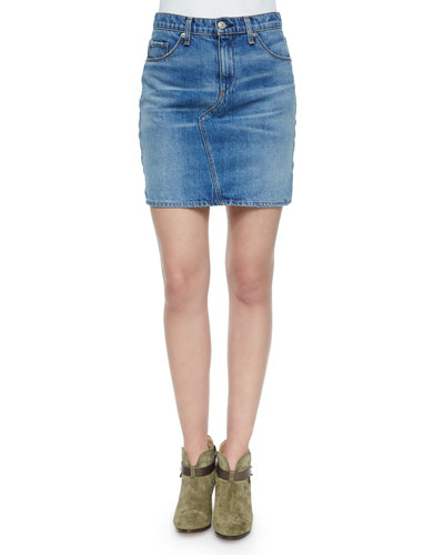 Clean Bigbee Denim Mini Skirt