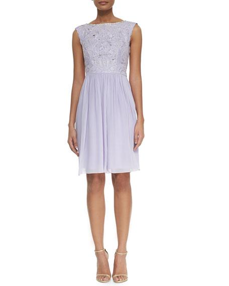 Ted Baker London Lace/Chiffon Short Dress