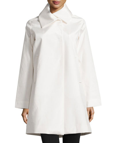 Jane A-line Rain Jacket, White
