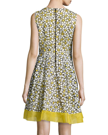 Daisy Sleeveless Embroidered Fit & Flare Dress