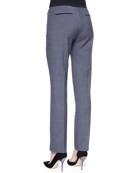 Benett Straight-Leg Pants W/ Jersey Waist