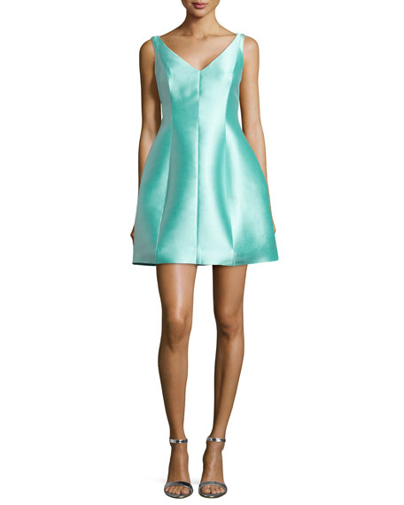 kate spade new york structured silk mini dress