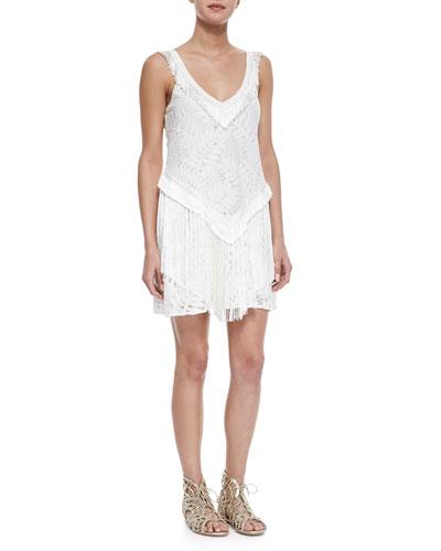 Austin Lace Fringe Dress