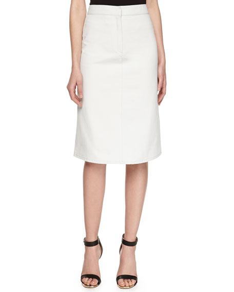 Stella McCartney A-line Twill Skirt, Light Blue