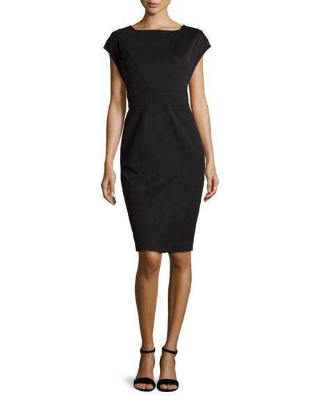 ZAC Zac Posen Bandage Ponte Dress, Black
