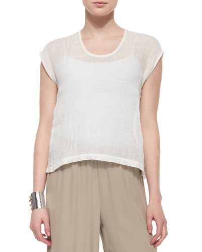Linen Gauze Short Top