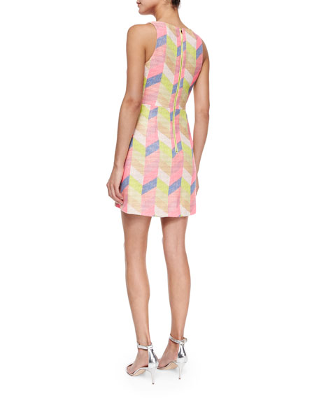 Couture Chevron Shift Dress