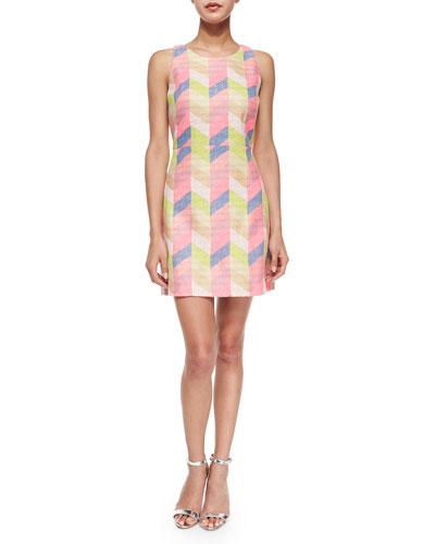 Couture Chevron Shift Dress