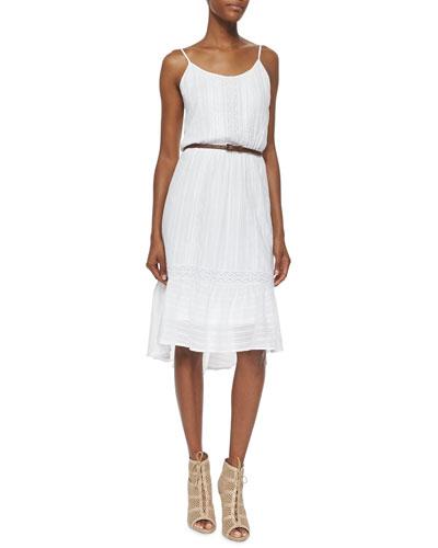 Knit Lace Sundress, White