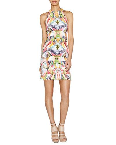 Halter Printed Slim Sheath Dress