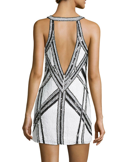 Benny Sequined Dress, White