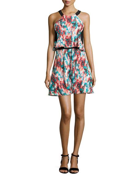 Parker Element Tiered Silk Dress, Lulu Combo