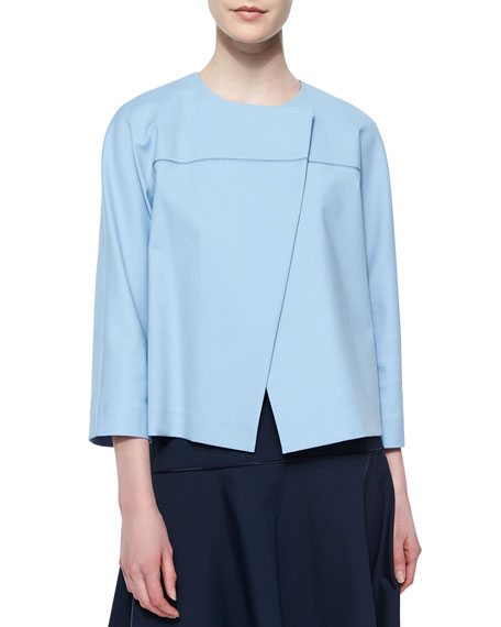 Lafayette 148 New York Odene Stretch Twill Asymmetric Topper Jacket