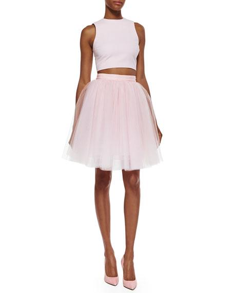 Everleigh Tulle Skirt, Pink Wash