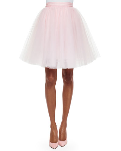 Everleigh Tulle Skirt, Pink Wash