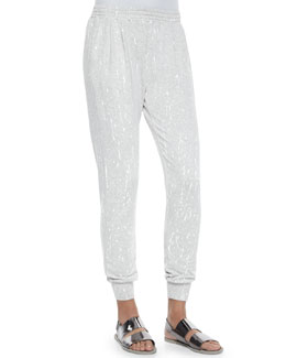 Jolie Paint Splatter Sweat Pants, Gray