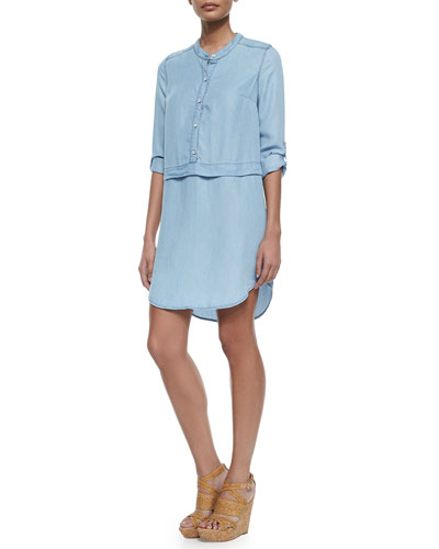Chambray Button-Down Shirtdress