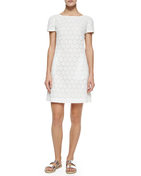 Theory Jamelya May Eyelet Dress, White