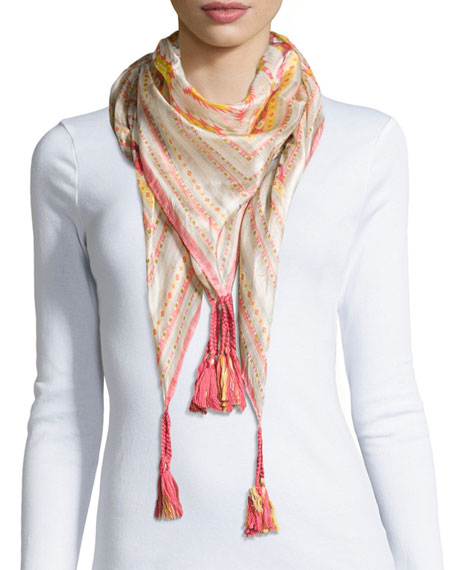 johnny was collection axis printed georgette scarf