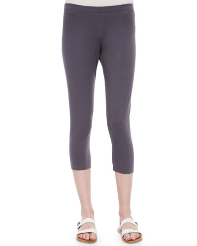 Skinny Capri Leggings, Slate