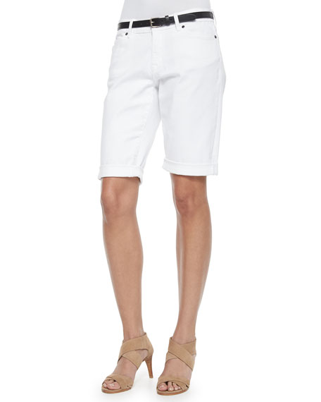 CJ by Cookie Johnson Honor Roll-Up Shorts, White