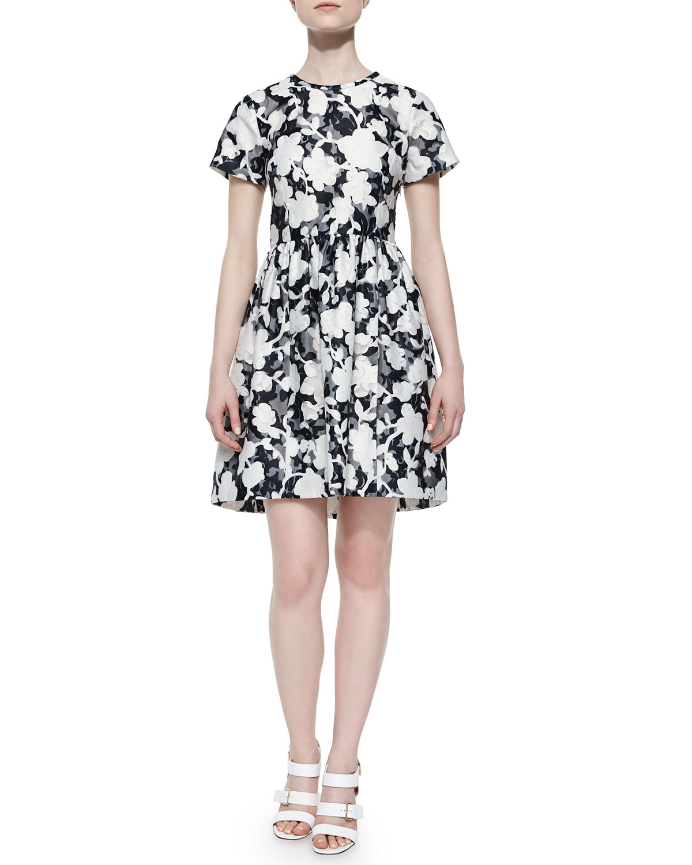 837f94dadbf kate spade new york short-sleeve floral   lace dress