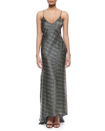 Romy Bias-Cut Gown