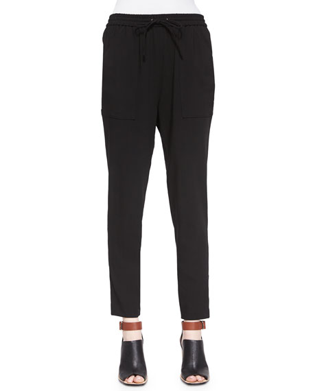 Marissa Webb Polina Drawstring Pants, Black