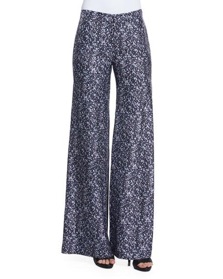 Derek Lam 10 Crosby Printed Wide-Leg Trousers W/