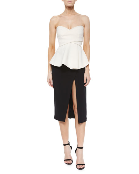 Derek Lam 10 Crosby FRONT SLIT PENCIL SKIRT