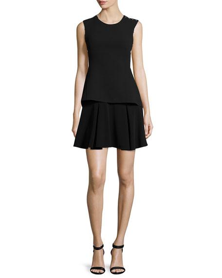Derek Lam 10 Crosby Sleeveless Split-Back Dress W/
