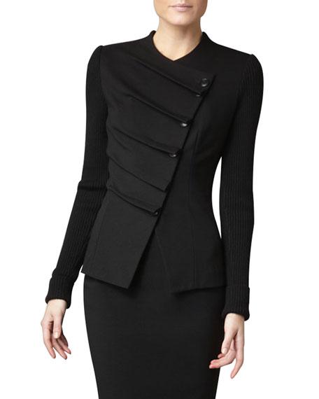 Neiman Marcus Folded Asymmetric Jacket