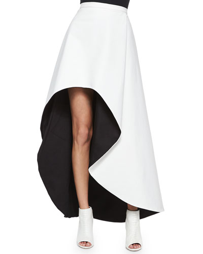 Chiara Asymmetric Two-Tone Skirt