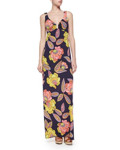 Ello Floral-Print Maxi Dress