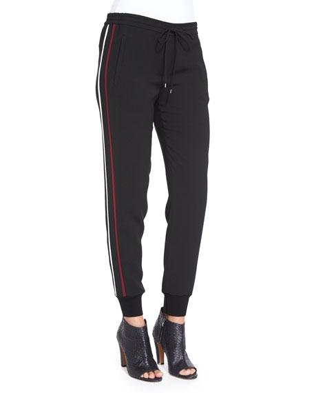 Vince Double-Stripe Jogger Pants